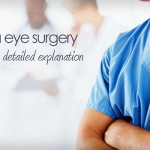 Eye surgery explanations and graphic descriptions