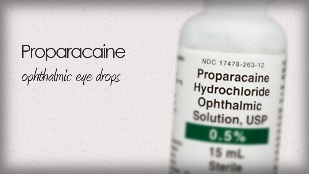 Proparacaine Anesthetic Eye Drops