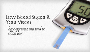 Low blood sugar can affect vision