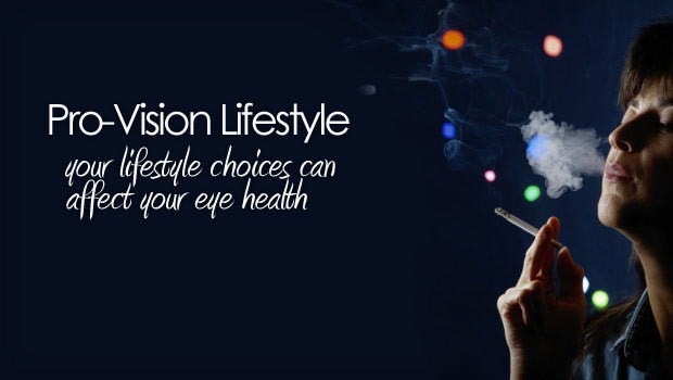 healthy lifestyle can affect your vision